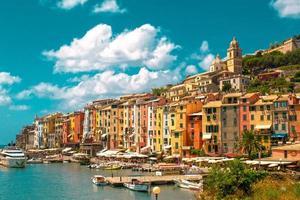 litoral de portovenere na ligúria, itália