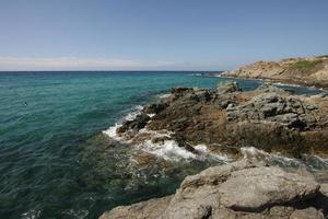 praia negra na corsica foto