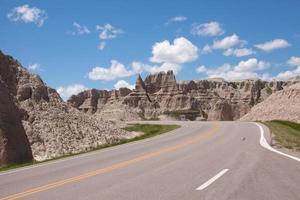 estrada através do deserto