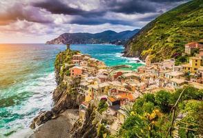 vernazza, cinque terre, liguria, itália foto