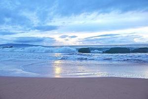 praia do estado de wailea pôr do sol