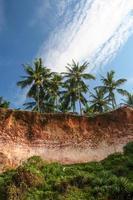 falésias em varkala beach india foto