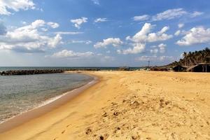 praia de negombo, sri lanka foto