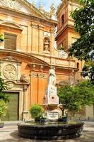 estátua na cidade velha de valência foto