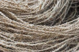 corda de coco trançada artesanalmente foto