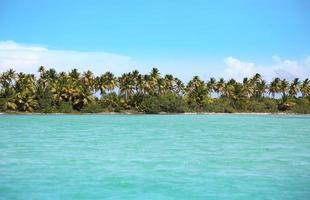 mar turquesa do caribe