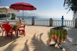 terraço do restaurante na andaluzia