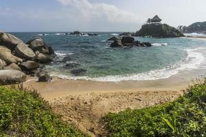 baía do caribe em cabo san juan, na colômbia.