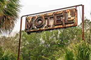 placa de neon rústico de motel