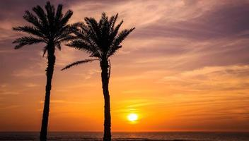 pôr do sol em Agadir, Marrocos