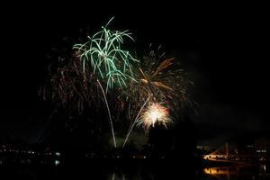 celebração de fogos de artifício
