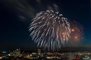 fogos de artifício no dia canadense