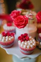 bolinhos de rosa