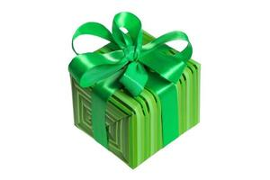 embalagem de presente verde foto