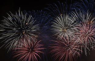 fogos de artifício coloridos
