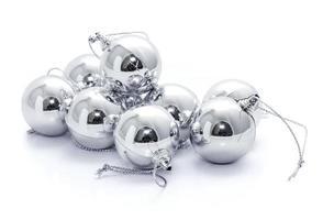 bolas de natal de prata
