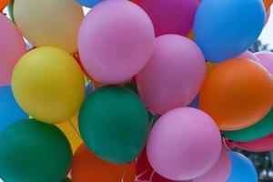 balões coloridos foto