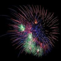 show de fogos de artifício colorido realizado na Tailândia