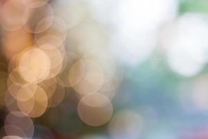 fundo de luzes suaves de bokeh abstrato