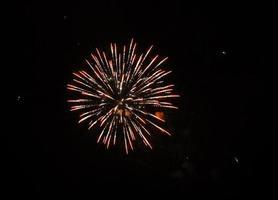 fogo de artifício de cor