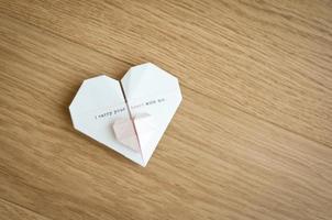 corações de origami foto
