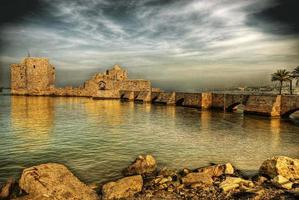 castelo do mar cruzado, Sidon, Líbano