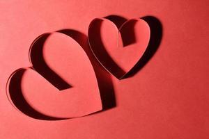 corações de papel foto