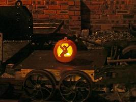 a ferrovia a oeste de lancashire celebra o halloween.