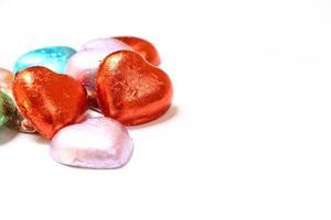 chocolate em forma de coração. foto