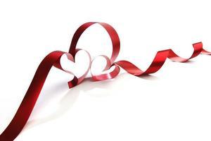 fita em forma de coração