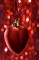 decoração de coração de natal