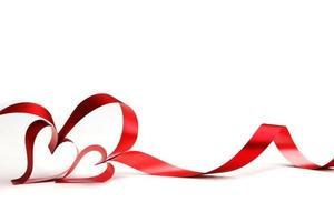 fitas de coração vermelho