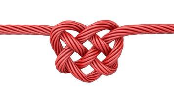 nó em forma de coração vermelho