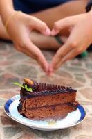 bolo para os amantes de chocolate. foto