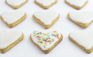 biscoitos em forma de coração foto