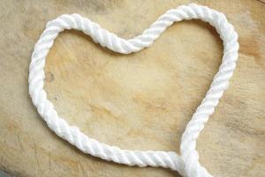 corda em forma de coração