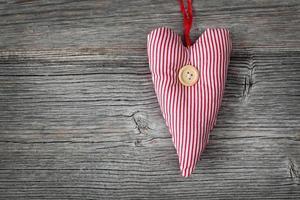 coração com botão