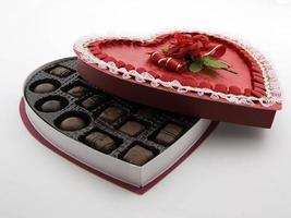 caixa de chocolate dos namorados foto