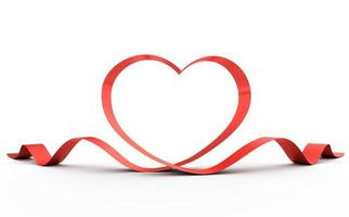 coração de uma fita.