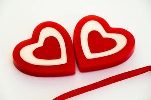 velas de cera em forma de coração
