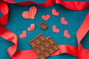 chocolate e marca de coração