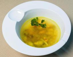 sopa de gengibre amarelo