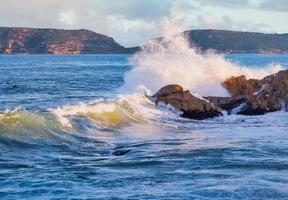 vista costeira da reserva natural robberg foto