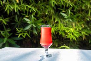 coquetel de suco vermelho