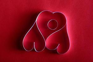 corações de papel fundo st. namorados foto