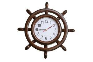 relógios de parede em forma de volante marinho foto