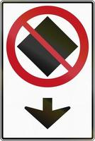 nenhuma mercadoria perigosa nesta pista no Canadá foto