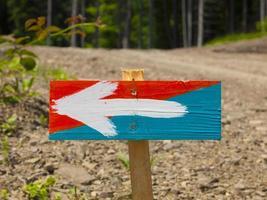 o sinal indicando o caminho. foto