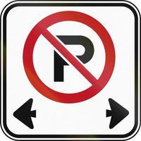 placa de estacionamento proibido no Canadá foto