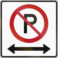 sem estacionamento em ambas as direções no Canadá foto
